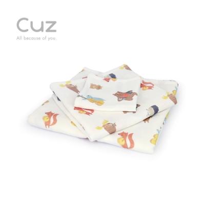 【Cuz】草原六重奏(防皺紗布巾/方巾/嬰兒包巾)-90cm
