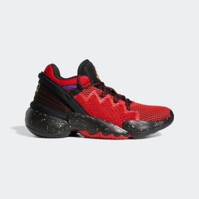 ADIDAS 運動鞋 緩震 慢跑鞋  大童 女鞋 黑紅 FZ1426 D.O.N. ISSUE 2 J