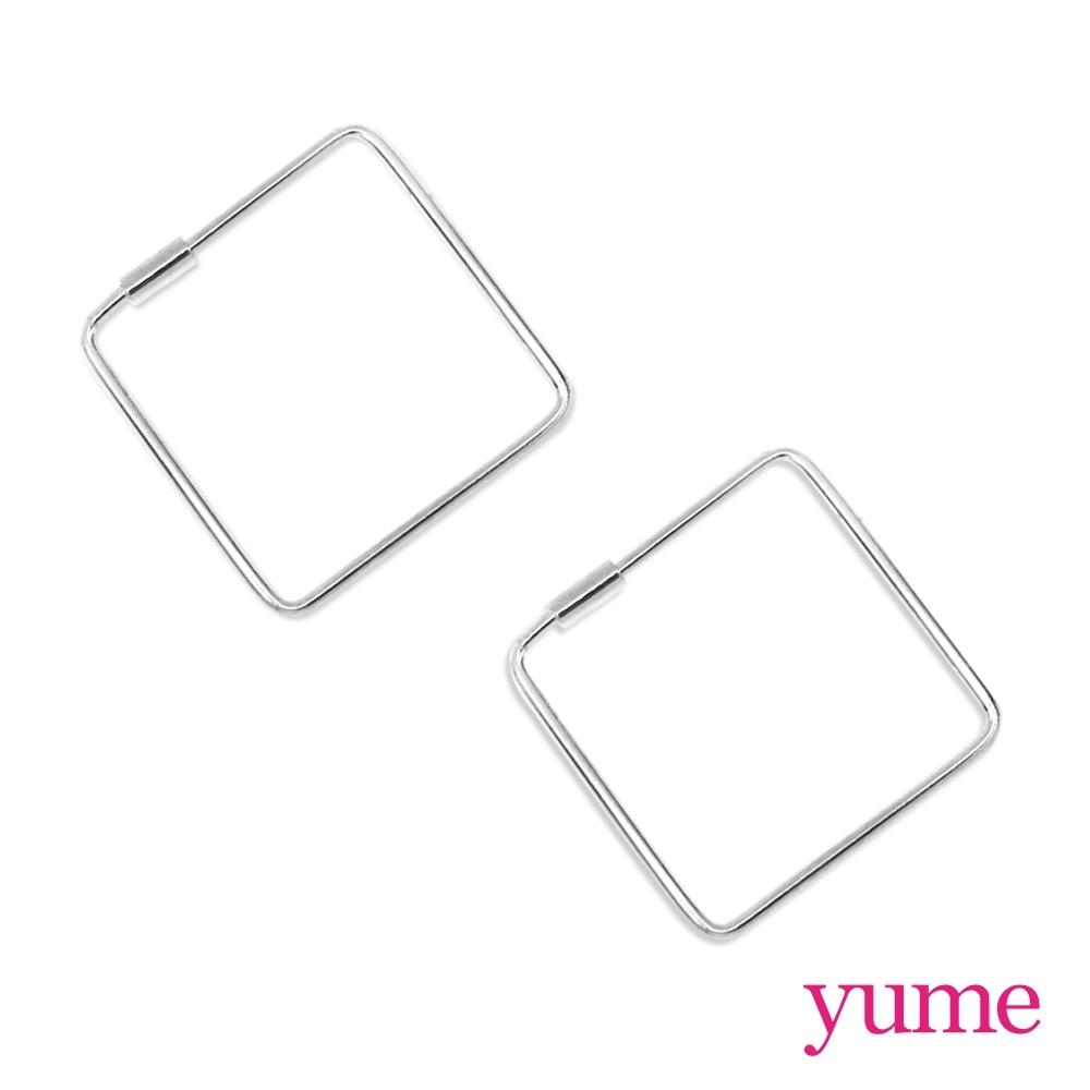 YUME 細方形線框耳環