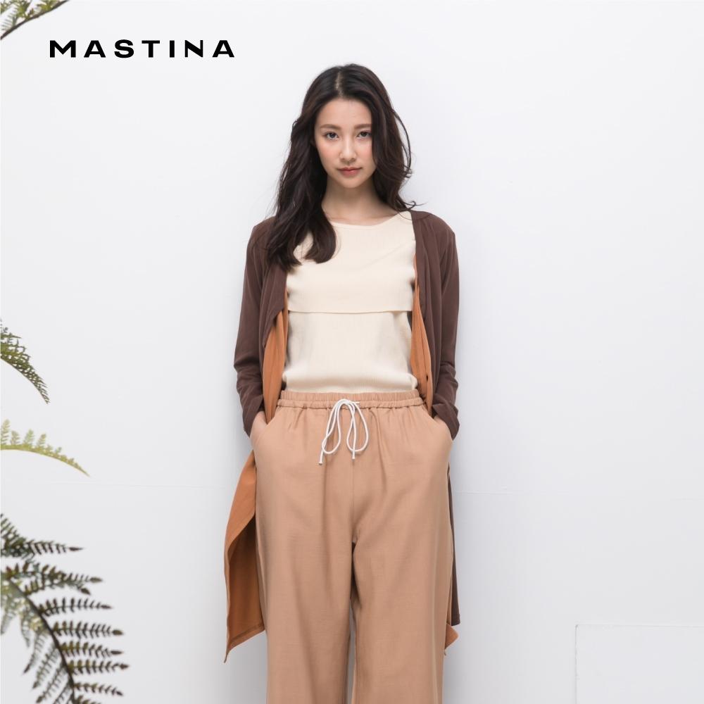 【MASTINA】撞色波浪造型七分袖-外套(三色)
