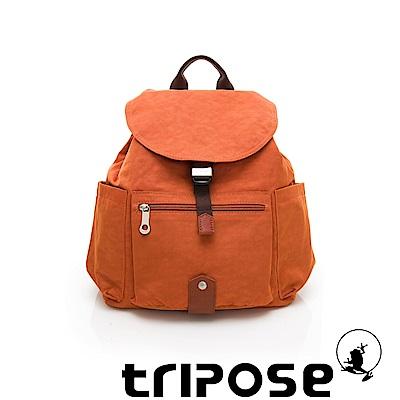 tripose MEMENTO系列微皺尼龍經典輕量後背包(小) 鮮橙橘