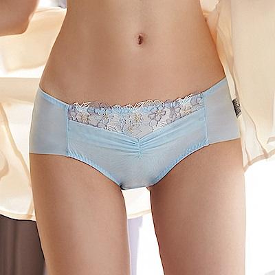 蕾黛絲-雙背片靠過來搭配平口內褲 M-EL 愛麗絲藍