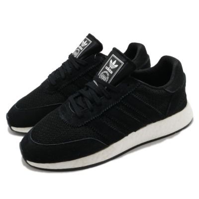 adidas 休閒鞋 I-5923 復古 低筒 女鞋 海外限定 愛迪達 三葉草 基本款 黑 白 D96608