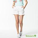 bossini女裝-休閒印花短褲02灰白