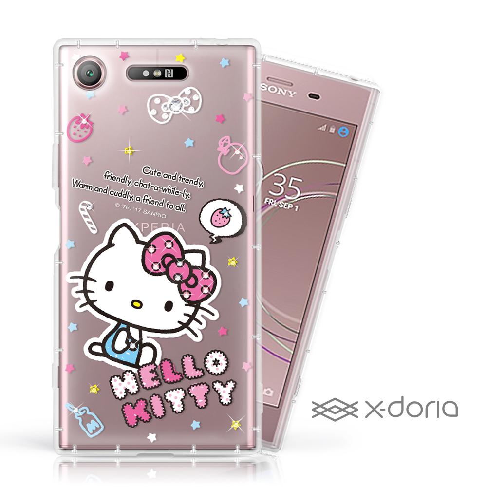 Hello Kitty SONY XZ1 彩繪水鑽手機空壓殼 - 塗鴉