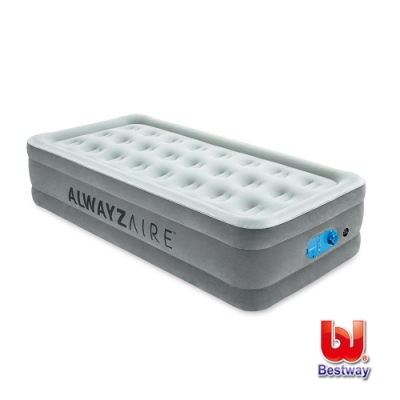 凡太奇 Bestway Twin單人絨面加高AC自動充氣床-白 67623