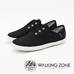 WALKING ZONE 帆布系列 防潑水果漾休閒 女鞋-經典黑