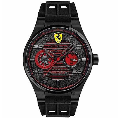 Scuderia Ferrari 法拉利 SPECIALE 日曆手錶-黑/44mm