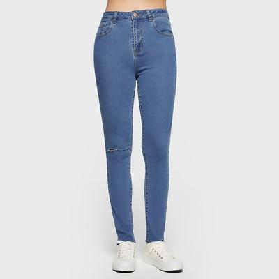 6IXTY8IGHT高腰緊身Skinny牛仔褲8F1復古藍 PN09342
