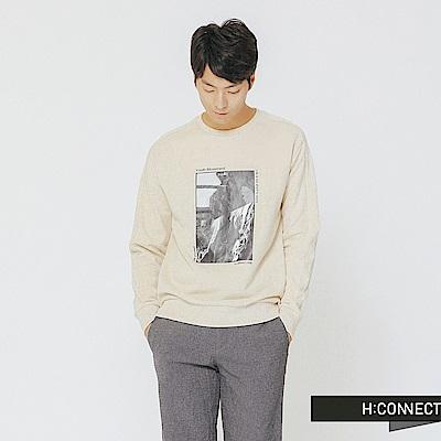H:CONNECT 韓國品牌 男裝-復古個性圖像上衣-白
