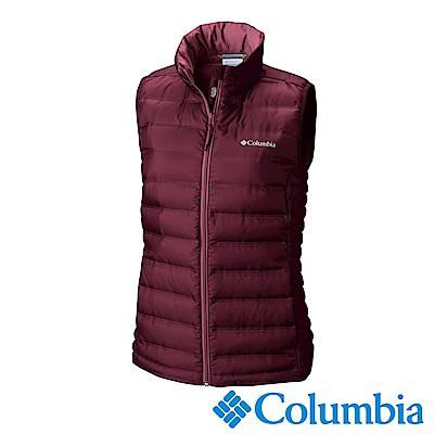 Columbia 哥倫比亞 女款-羽絨背心-暗紅色 UWR00050WE