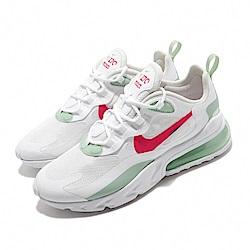Nike 休閒鞋 Air Max 270 React 女鞋 氣墊 避震 舒適 球鞋 穿搭 簡約 白 紅 CV3025100