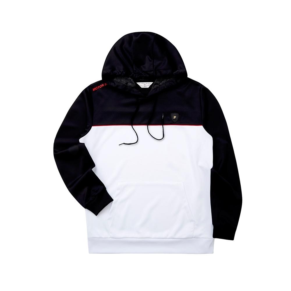 FILA 男長袖連帽T恤-白色 1TET-5471-WT