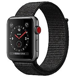 Apple Watch Series3 GPS+行動網路42公釐 太空灰鋁/黑錶環