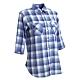 法國【EiDER】女排汗透氣抗UV七分袖襯衫/ EIT2672紫藍格 product thumbnail 1