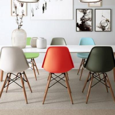 E-home EMS北歐經典造型餐椅 六色可選