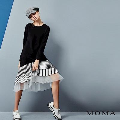 MOMA 拼接條紋長洋裝