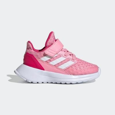 ADIDAS 透氣 舒適 運動 慢跑鞋 中小童 童鞋 粉 EF9281 RAPIDARUN SHOES