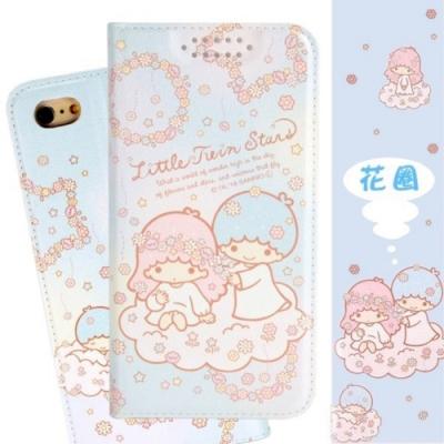 【雙子星】iPhone 6s Plus /6 Plus 甜心系列彩繪可站立皮套(花圈款)