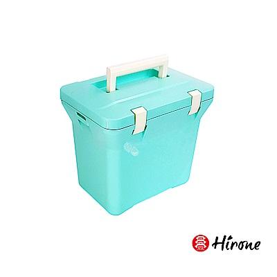 日本Hirone日本製-繽紛假日-便攜式大容量戶外冰桶-7公升-粉末藍(快)