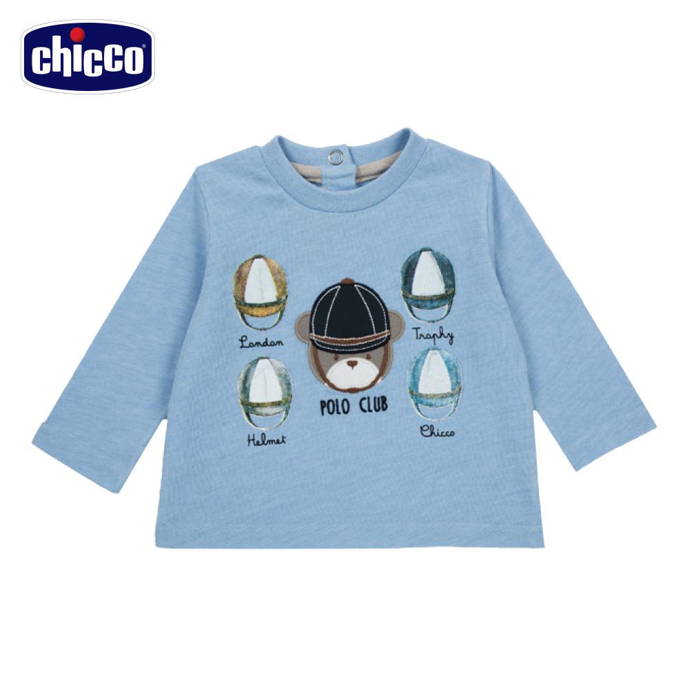 chicco-倫敦熊系列-長袖上衣-藍(12-24個月)