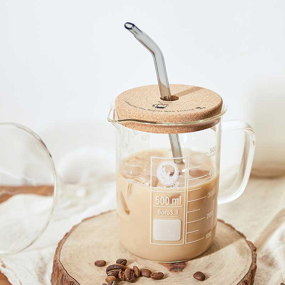 賽先生科學 咖啡因理科燒杯 (含軟木杯蓋)