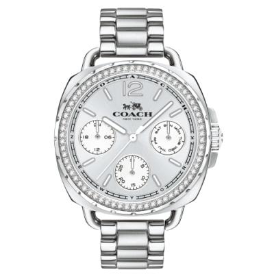 COACH 晶鑽個性三眼時尚腕錶14502569