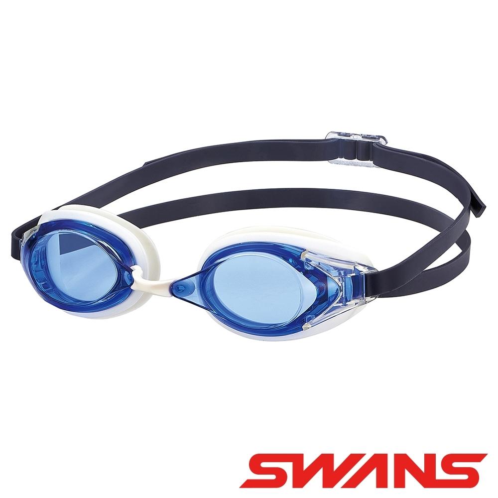 【SWANS 日本】光學通用型泳鏡(防霧/抗UV/矽膠/SR-2N藍)