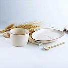 [Caldo卡朵生活] 日式古韻粗陶茗茶杯盤組(買一送一)