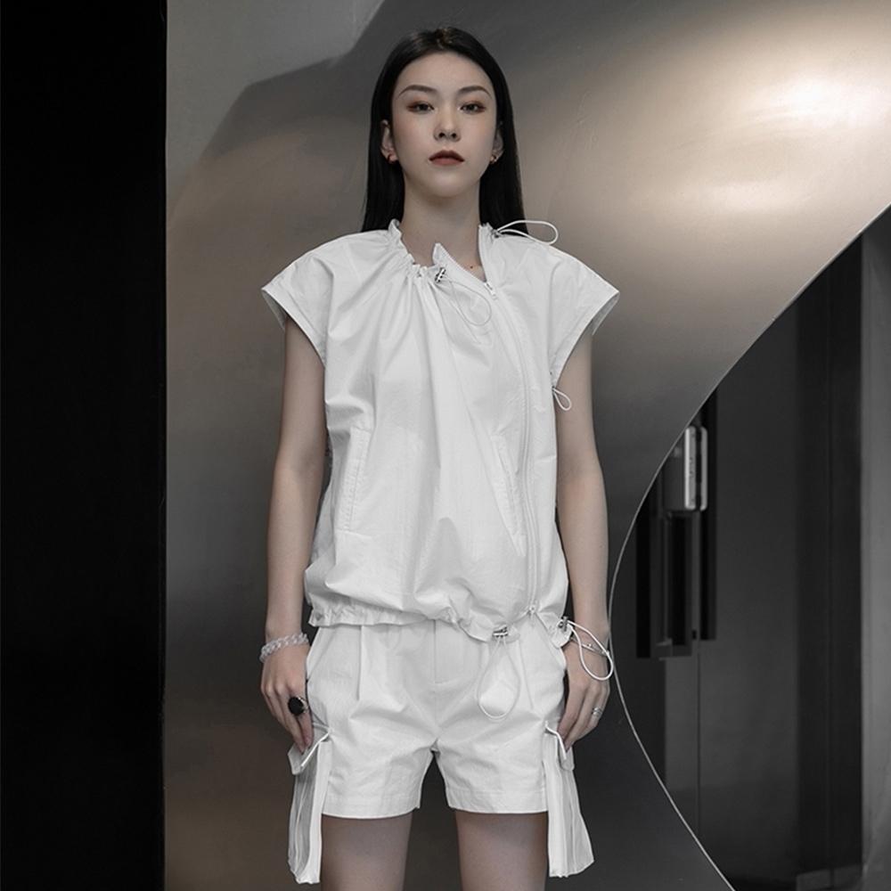 設計所在Style-韓版修身素色心機顯瘦圓領短袖T恤 (白色)