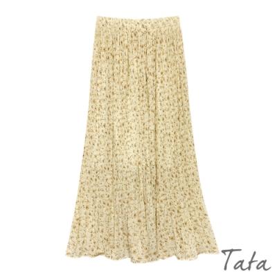 小碎花百褶雪紡裙 共二色 TATA-F