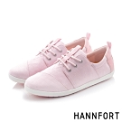 HANNFORT CALIFORNIA簡約光澤線條休閒鞋-女-淺粉