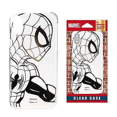 iPhone X Marvel PC/透明金箔 手機硬殼 5.8吋-蜘蛛人