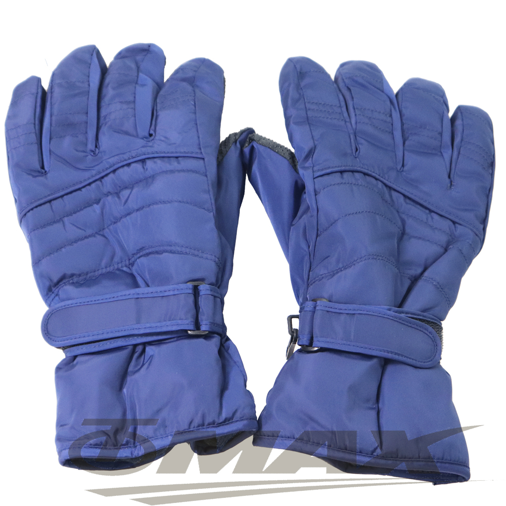 OMAX帥氣防寒防潑水機車手套-男用-藍色-快