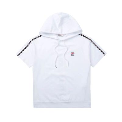 FILA #LINEA ITALIA 短袖連帽T恤-白 5TET-5419-WT