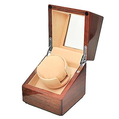WISH 機械腕錶自動上鍊盒‧1只裝 沙比利實木(米白)