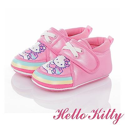 HelloKitty 彩虹系列 輕量減壓柔軟寶寶學步童鞋-粉