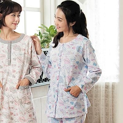 華歌爾睡衣-Pretty Amy 樂趣 M-L 長袖褲裝家居服(藍)