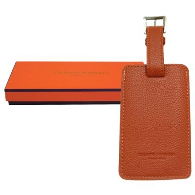 CAMPO MARZIO 皮革行李吊牌-橘色(附盒)