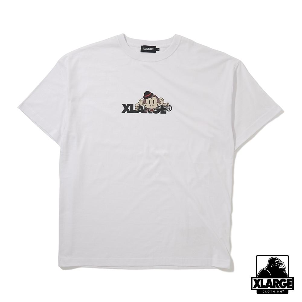 XLARGE S/S TEE KEITH STANDARD LOGO短袖T恤-白