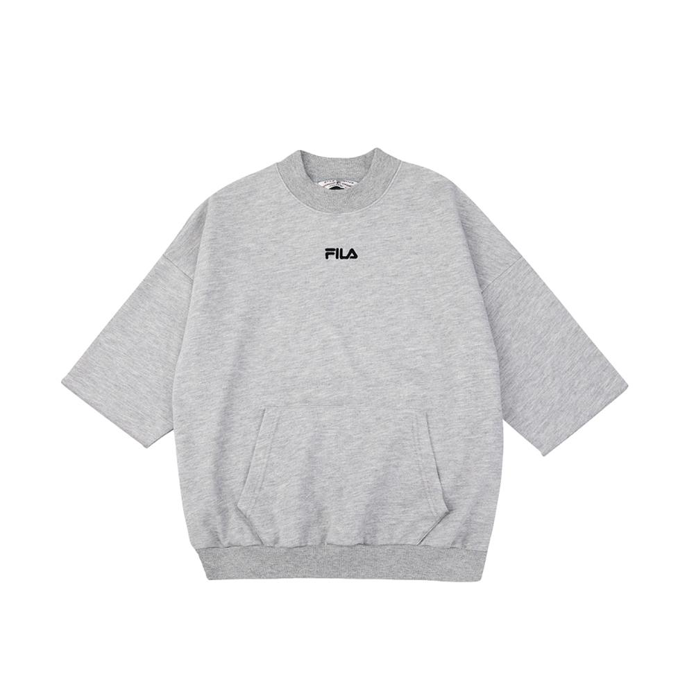 FILA #架勢新潮 女短袖圓領T恤-麻灰 5TEV-1433-MY