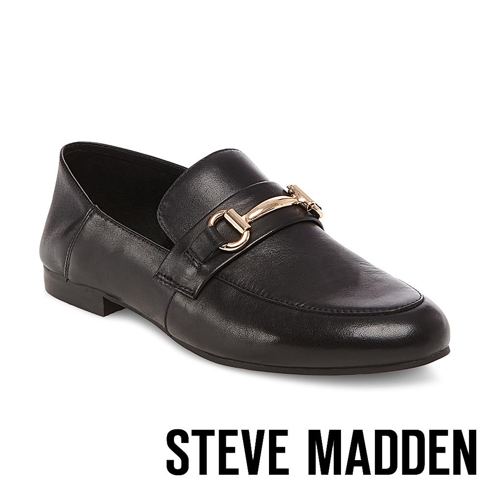 STEVE MADDEN-KERIN 馬銜扣真皮兩穿樂福鞋-黑色