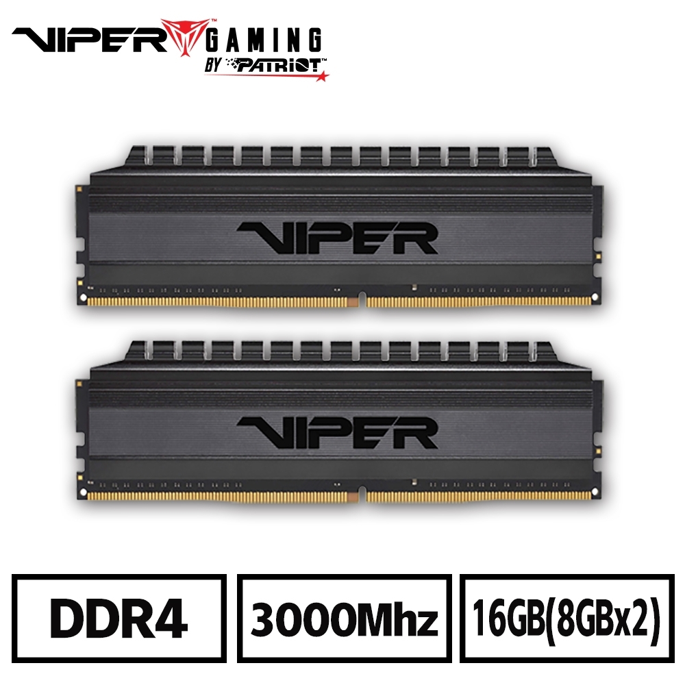 VIPER蟒龍 VB4 DDR4 3000 16GB(2x8G)桌上型記憶體