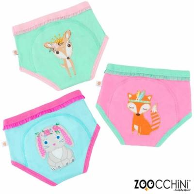 ZOOCCHiNi美國有機棉學習褲3入-夢幻動物