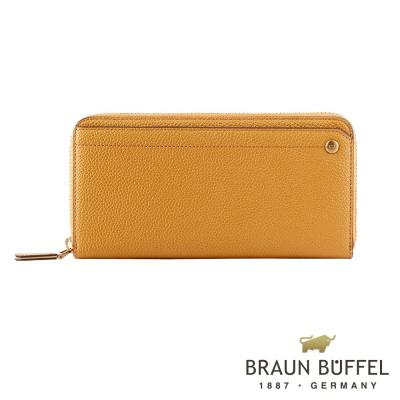 BRAUN BUFFEL - 珍妮絲系列12卡拉鍊長夾 - 晨光黃
