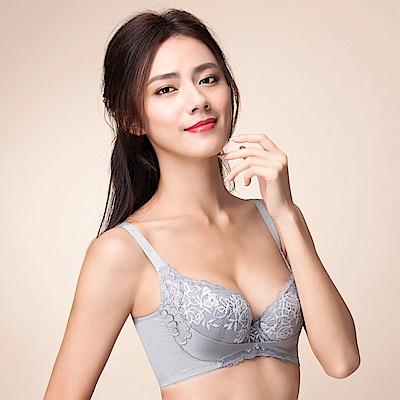 摩奇X 雙挺胸罩  D-E 罩杯調整型內衣(岩石灰)包覆副乳