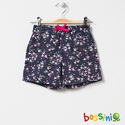 bossini女童-印花輕便短褲01藏藍色