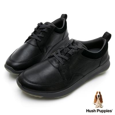 Hush Puppies Bounce Max 高效彈力皮革休閒鞋-黑色