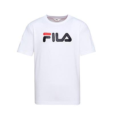 FILA  男款短袖圓領T恤-白 1TET-1500-WT