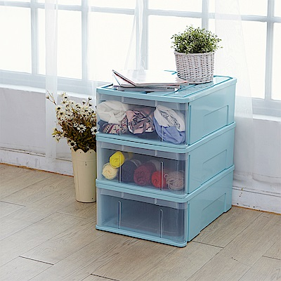 IKLOO宜酷屋_日系可堆疊式收納箱/整理箱(3入組)